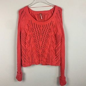 Free People 🔥 New, Red Open Back Sweater